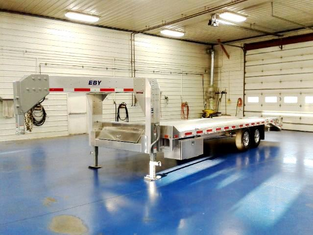 Eby 24ft Gooseneck Flatbed at Metzler Trailer