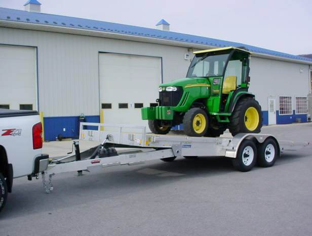 MTI 20 ft Aluminum Power Tilt Trailer