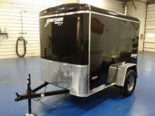 Homesteader 5x8 Enclosed Trailer Black